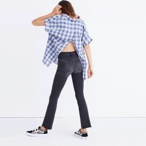 Madewell Central Open-Back Shirt Linus Plaid